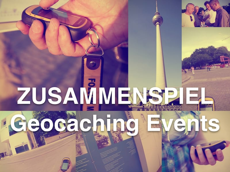 Geocaching as team event: Guaranteed with ZUSAMMENSPIEL, on request also as Competition.