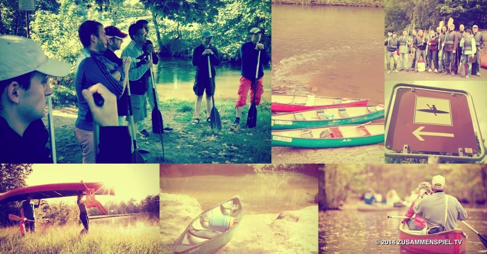 A canoe trip as a company trip and team building event